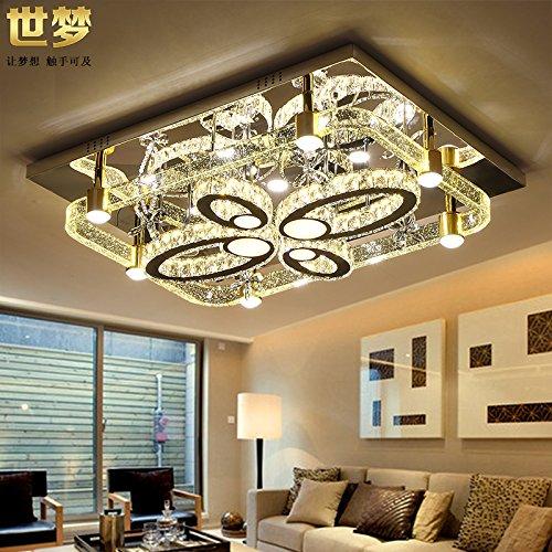 Quietness @ Pendant Lamp Loft Air Bubbles In Crystal Lamp Rectangular Atmospheric Modern Minimalist Creative LED Ceiling Lamp Lights,800Mm600Mm