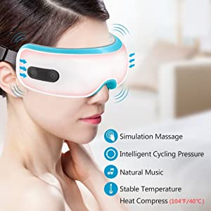 Breo iSee 3S Electric Eye Massager Eye Mask with Heating, Vibration and Air Pressure Temple Massager