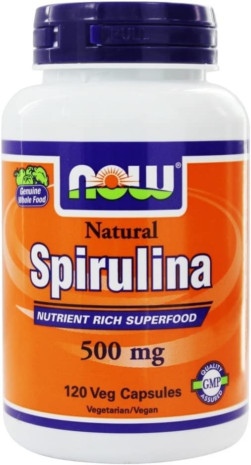 Now Foods - Spirulina 500 mg 120 vcaps