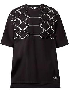 aa33aeebc Emporio Armani EA7 Men's Short Sleeve t-Shirt Crew Neckline Jumper Black