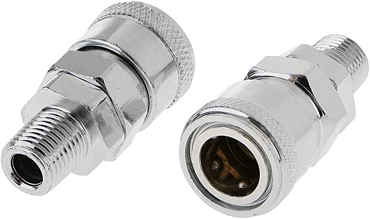 New 1//4/'/' NPT Quick Release Outer Wire Male Connector Hose Air Line Compressor