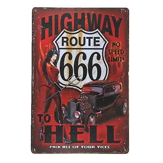 MiMiTee Highway to Hell Cartel De Chapa Placa Metal Vintage ...