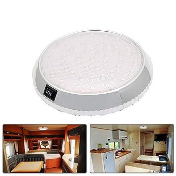 12V 46 LED Car Interior Lights Van Boat Caravan Roof Doom Ceiling Cabin Light UK