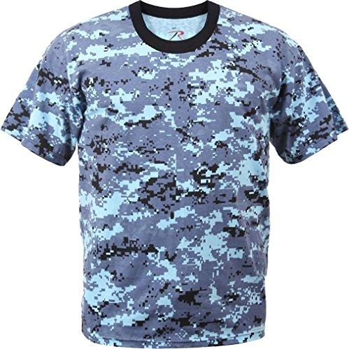 - Digital Camo Tactical T-Shirt Camouflage Military Tee Short Sleeve Army Tshirt