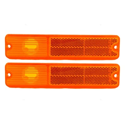 Pair of Front Signal Side Marker Light Lamp Replacement for Jeep SUV J0994020 AutoAndArt: Automotive