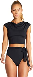 product image for Vitamin A Women's Black Ecolux Celia Short Sleeve Rash Guard