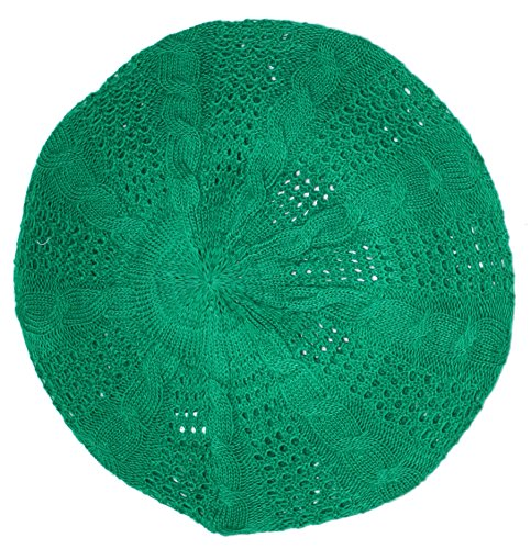 Ted and Jack - Lightweight Knit Slouchy Beret in Green