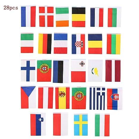10 Metres 28 Fabric Flags EU European Union Nations Of Europe Eurovision Bunting