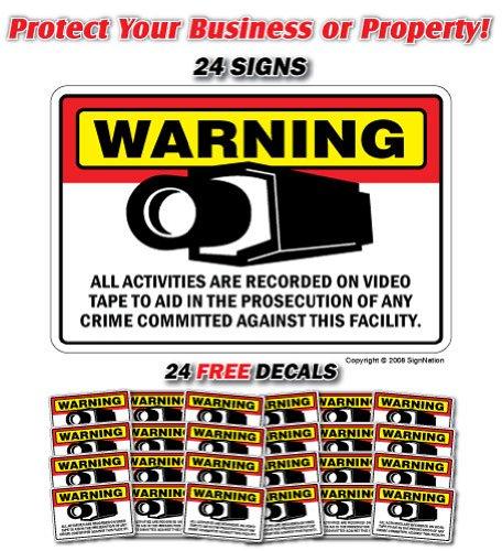 SignMission - Señal de Seguridad para Cámara, 24 Señales y ...