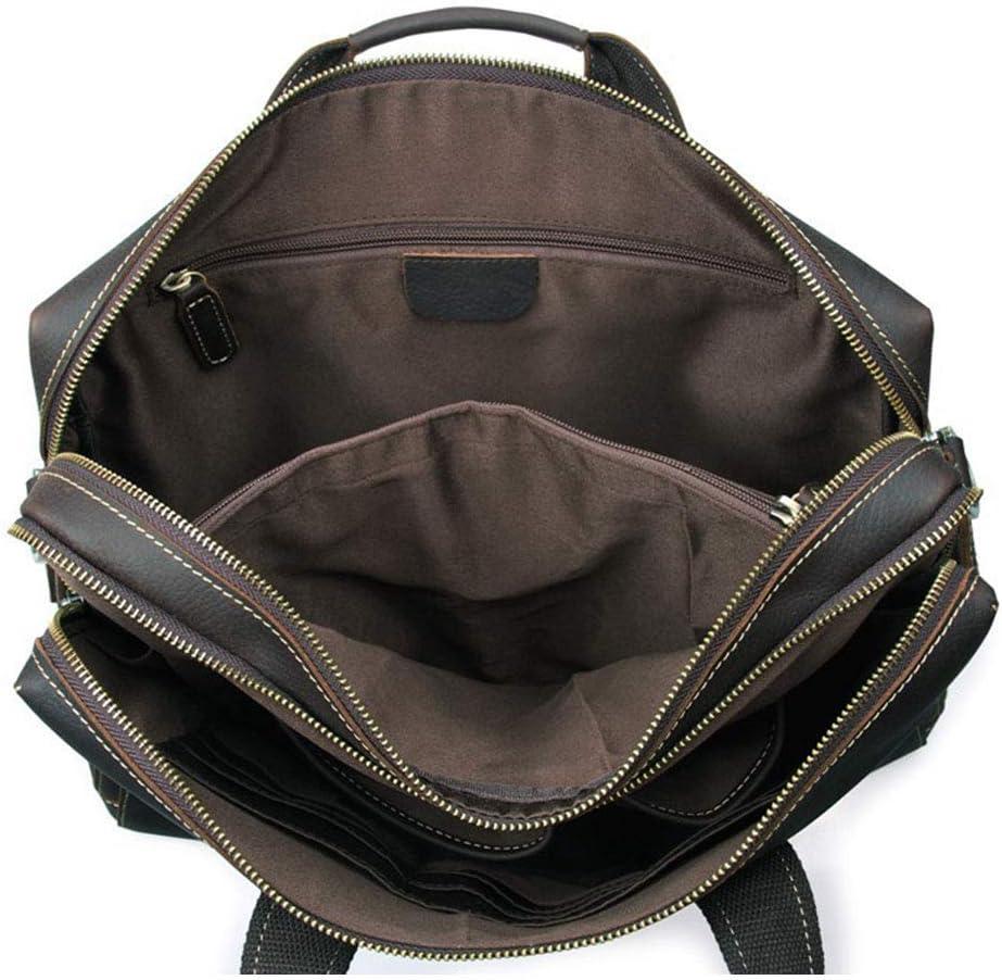 Briefcase Messenger Bag Mens Leather Travel Carry On Bags Holdal Travel Tote Water Waterproof Messenger Bag Laptop Rucksack for 15 Notebook//Computer for Men Shoulder BagTravel Messenger Duffle Bags