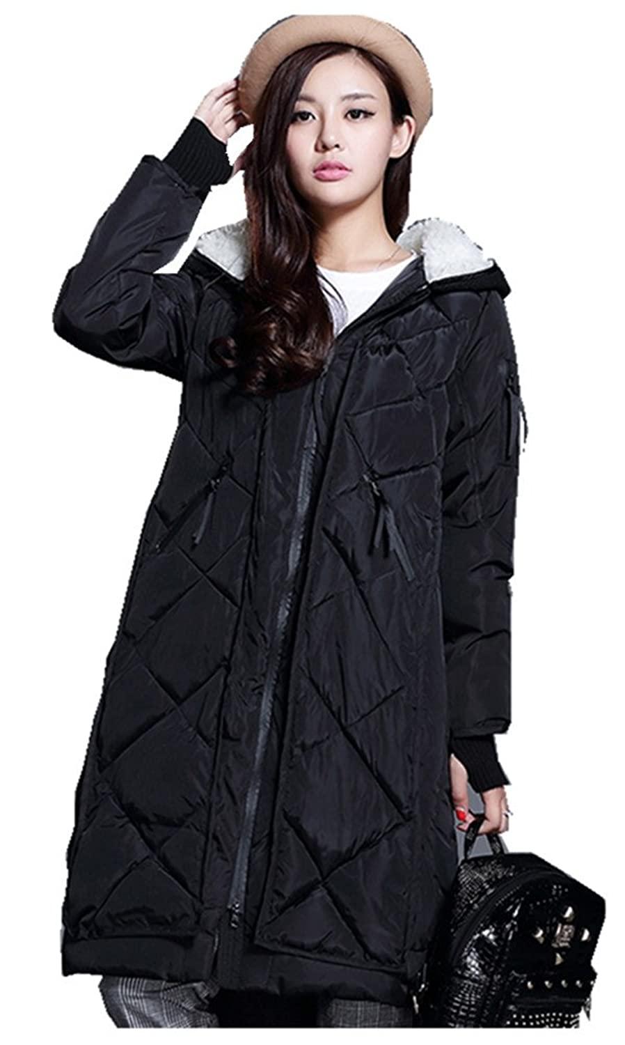 on sale Women&39s Winter Thicken Mid-length Cotton Padded Coats