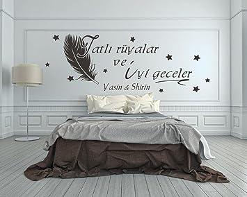 Türkisches Wandtattoo mit Namen fürs Schlafzimmer Tatlı ...
