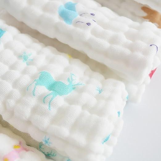 Binghnag Lot de 6/gants de toilette de b/éb/é et serviettes/ /Naturel Coton Bio Lingettes b/éb/é 30/x 30/cm chaud b/éb/é Serviettes de bain