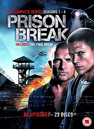 Prison Break Complete Seasons 1-4 - 23-DVD Box Set Prison Break ...
