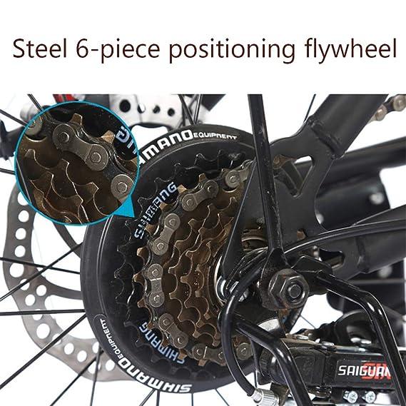 LETFF Bicicleta Plegable para Adultos, Bicicleta para pasajeros de 20 Pulgadas para Hombres y Mujeres(Red): Amazon.es: Deportes y aire libre