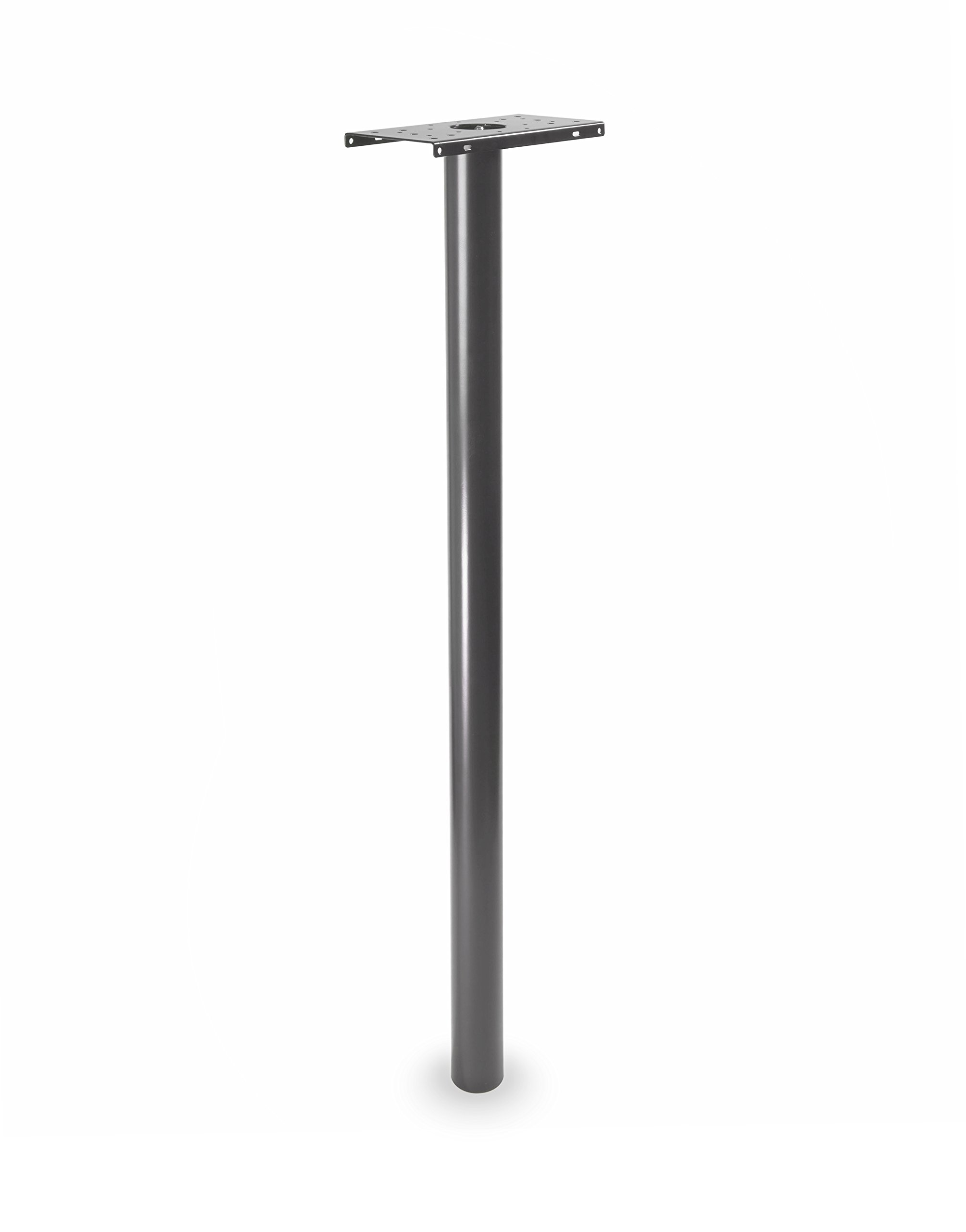 Architectural Mailboxes 7516P Pacifica in-Ground Steel Mailbox Post, One Size, Pewter
