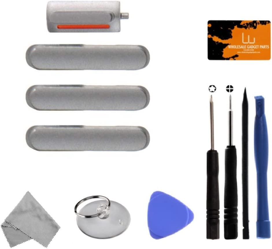Silver with Tool Kit for Apple iPhone 6 Buttons CDMA /& GSM Mute, Power /& Volume