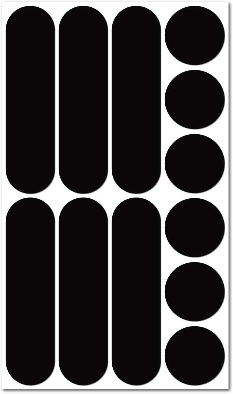 B REFLECTIVE, Kit de 12 Pegatinas Retro Reflectantes, Seguridad y Alta Visibilidad di Noche, Adhesivo Universal para Bicicleta/Cochecito/Casco/Moto/Motocicleta/Juguetes, Negro: Amazon.es: Coche y moto
