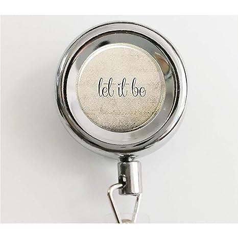 Llavero con frase inspiradora «Let It Be», llavero con frase ...