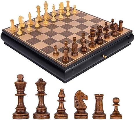 AILSAYA Ajedrez Juego Internacional De Ajedrez De Madera Juego De Piezas Juego De Mesa Colección Chessmen Juegos Portátiles De Viaje De Mesa Juguetes Regalo Juego De Ajedrez Juego Familiar Clásico: Amazon.es: Deportes