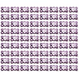 Beauticom BULK Quantity: 432 Pieces 50G/50ML PURPLE Color Frosted Container Jars with Inner Liner for Small Jewelry, Beads, Charms, Rhinestones, Nail Accessories - BPA Free