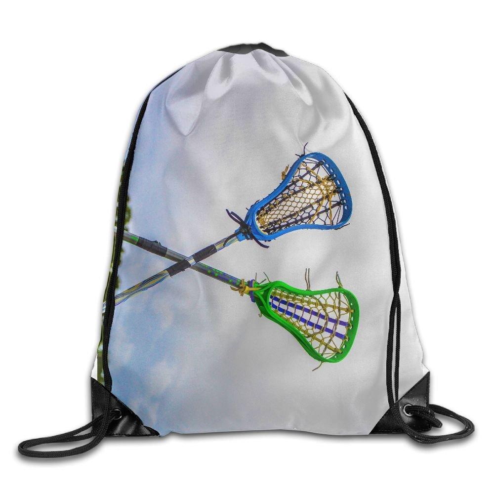 OLGCZM Lacrosse Drawstring Backpack Bag Shoulder Bags Gym Bag For Adult