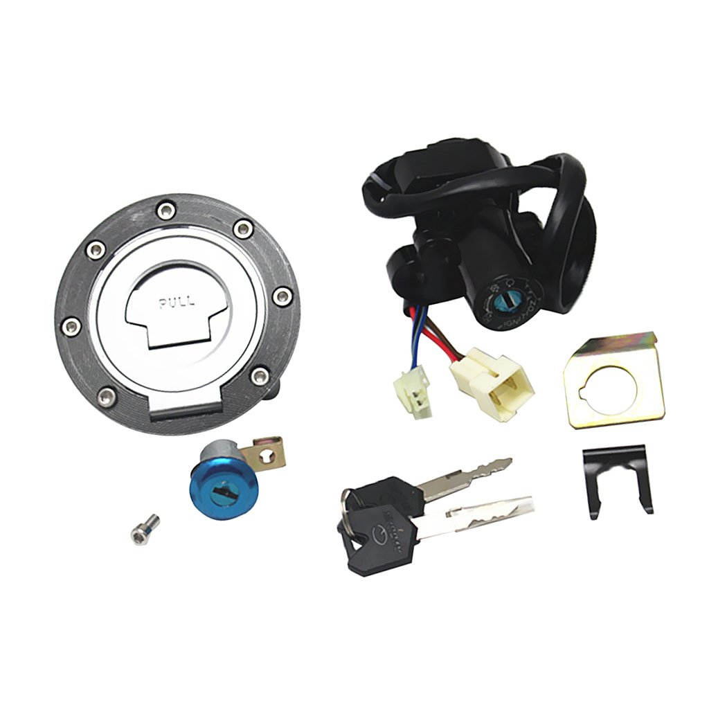 Jili Online Repalcement Ignition Switch Fuel Gas Cover Seat Lock Key for Honda JR1300 Yamaha YZF R1//R6