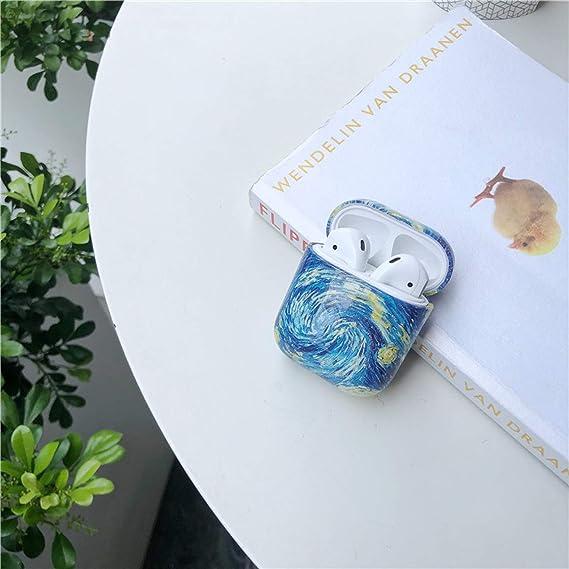 Art Van Gogh Painting Hardcase Für Airpods 2 Stoßfeste Pc Ladehülle Für Airpods 1 2 Fundas Hard Pc 2 Küche Haushalt