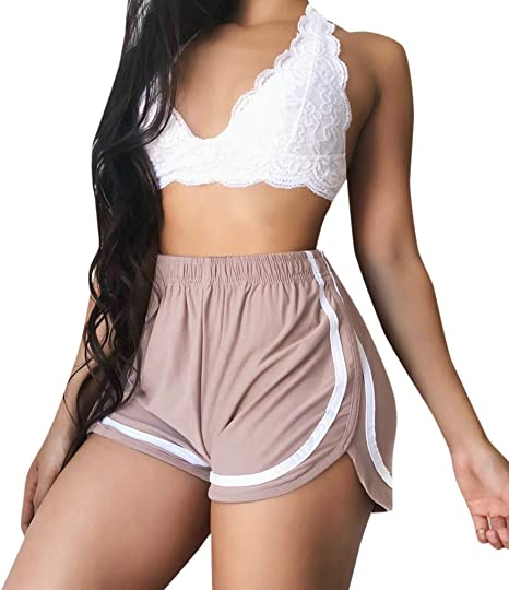 UK/_ LC/_ CASUAL LADY ELASTIC WAIST FAUX LEATHER HOT PANTS SOLID COLOR LOOSE SHORT