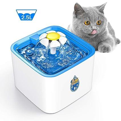 Amazon.com: Delomo - Fuente de agua para mascotas, 2,5 L ...