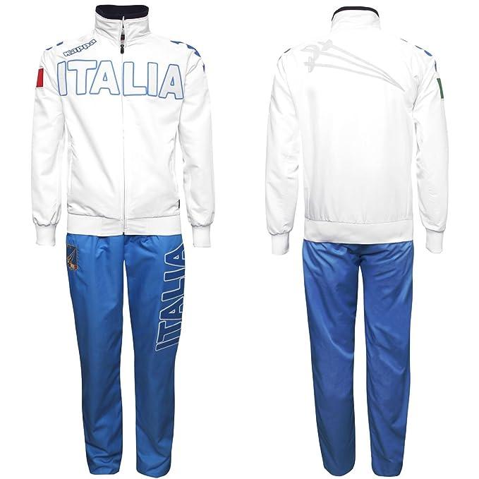 Jogging - Eroi Tks Italia Fis - White-Azzurro ITALIA - XXL: Amazon ...