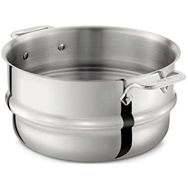 All-Clad 4703-ST Stainless Steel Dishwasher Safe Universal Steamer Insert Cookware, 3-Quart, Silver - 8701004547