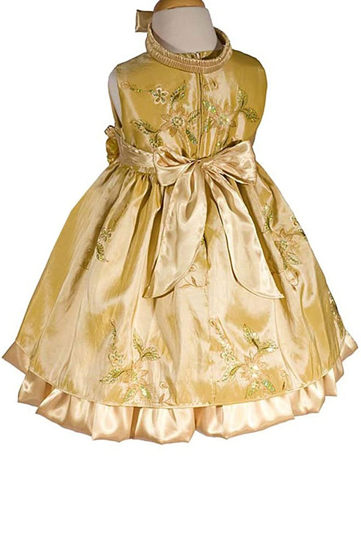 Amazon amj dresses inc baby girls gold flower girl birthday amazon amj dresses inc baby girls gold flower girl birthday party dress infant and toddler special occasion dresses clothing mightylinksfo
