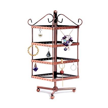 Amazon Retro Jewellery Organiser With 400 Holes 40 Ladder Unique Jewellry Display Stands