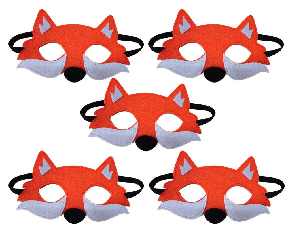 TOKYO T Fox Mask Kids Zootopia Party Supplies Fabric Masquerade Halloween 5 Set