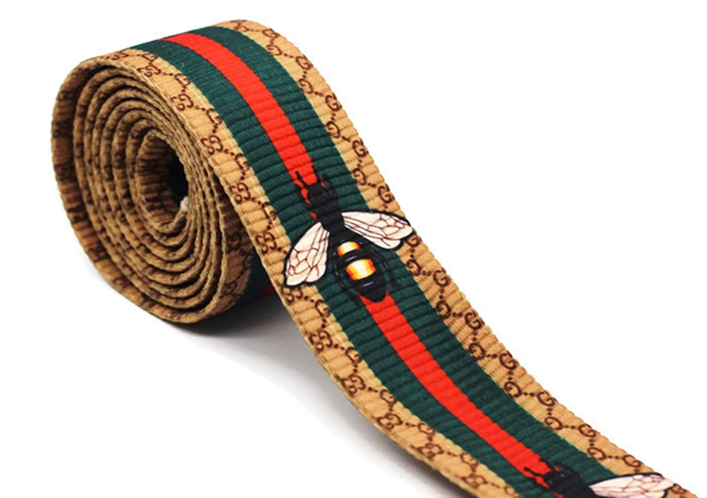 324516eb081 Amazon.com  1.77 inch Wide Gucci Inspired Striped Ribbon