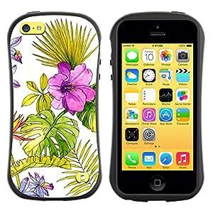 Suave TPU GEL Carcasa Funda Silicona Blando Estuche Caso de protección (para) Apple Iphone 5C / CECELL Phone case / / Wallpaper Watercolor Fern Spring /
