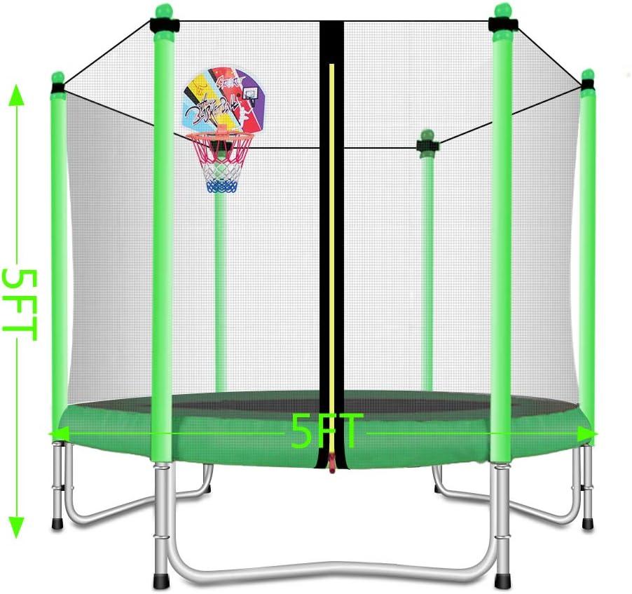 Lovely Snail - Cama elástica con aro de Baloncesto para niños de 5 ...