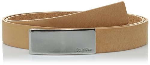 Calvin Klein Standalone Curved Plaque Belt, Cinturón para Mujer