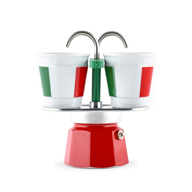 Acquisto Bialetti 6196 Caffettiera Mini Express Italia 2 Tazze + 2 Bicchierini, Alluminio, 2 Cups Prezzi offerta