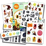 Disney Moana Tattoos - 75 Assorted Temporary Tattoos (Moana Tattoos)