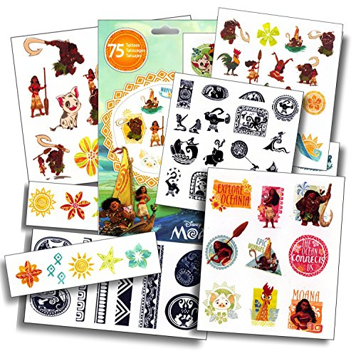 Disney Moana Tattoos Assorted Temporary