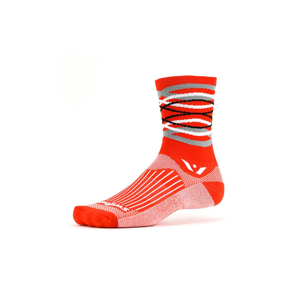 Cushioned Socks Built for Running /& Cycling All Day Comfort |Creative Styles Fast Drying Crew Swiftwick- VISION FIVE
