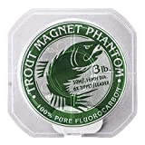 Trout Magnet Phantom 100% Fluorocarbon Fishing Leader Line, 3lb, 6X Tippet For Sale