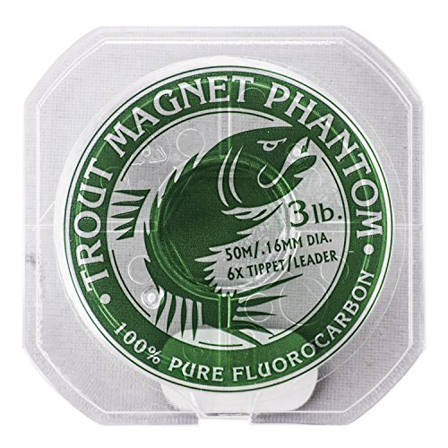 Trout Magnet Phantom 100% Fluorocarbon Fishing Leader Line, 50M (2lb, 3lb, 4lb Test) (Best Fishing Line For Trout Fishing)