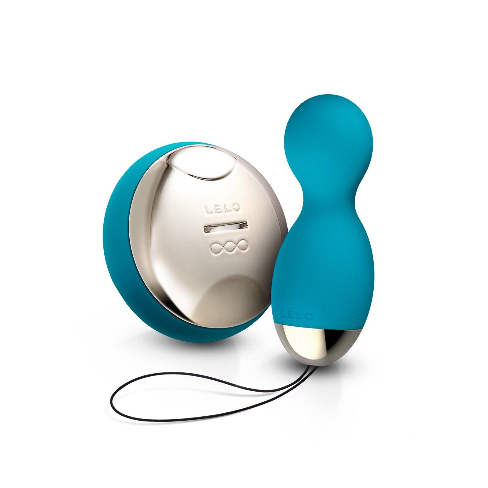 LELO Hula Beads Vibrating and Rotating Ben Wa Pleasure Balls, Waterproof, Ocean Blue by LELO