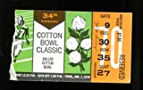 1970 Cotton Bowl Ticket Notre Dame v Texas