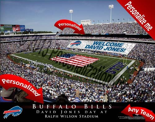 Buffalo Bills Team Stadium Print - Personalized Officially Licensed NFL - Personalized Print Stadium