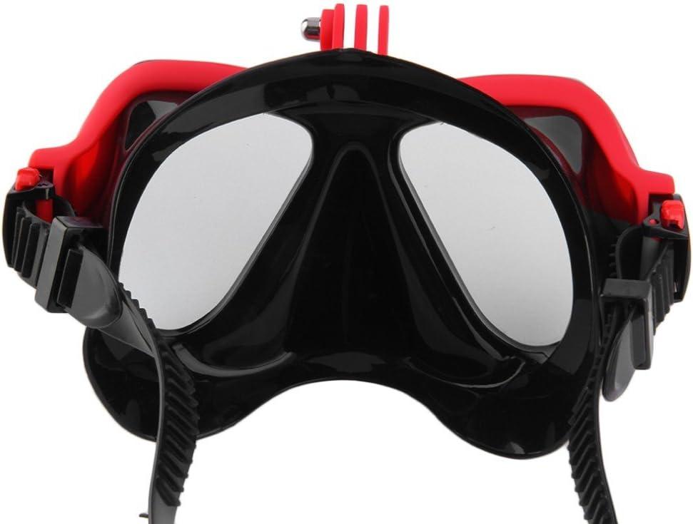 M/áscara de buceo para Submarinismo y Snorkel Compatible con Gopro hero 1 SJ c/ámaras xiaomi Snorkeling set con Buceo y snorkel 3 + 2
