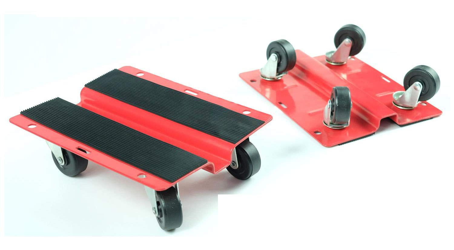 KASTFORCE KF2018 Utility Dolly Kit of Pair 8 inch x 10 inch Steel Dollies,Snowmobile Dolly, Material Mover